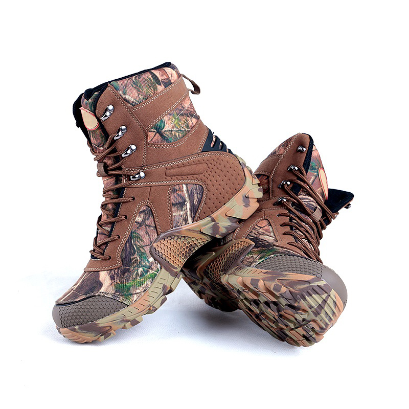 Men's Camouflage Winter Waterproof Outdoor Tactical Camo Boots Non-slip Military Breathable Shoes For Male Climbing Hiking Shoes military camouflage boots desert tactical hiking shoes non slip breathable boots outdoor climbing camping sneakers