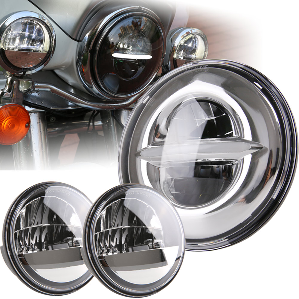 7 Inch Chrome for Harley LED Headlight+ 2x 4-1/2 Chrome Fog Light Passing Lamps for Harley Motorcycle Headlamp7 Inch Chrome for Harley LED Headlight+ 2x 4-1/2 Chrome Fog Light Passing Lamps for Harley Motorcycle Headlamp