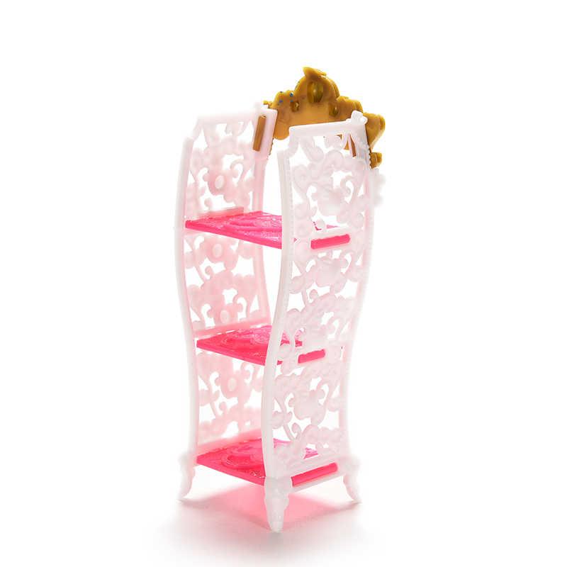 1 Pcs Pop Speelgoed Schoen Kast Mini Woonkamer Meubelen Kleur Willekeurige Pop Accessoires Voor