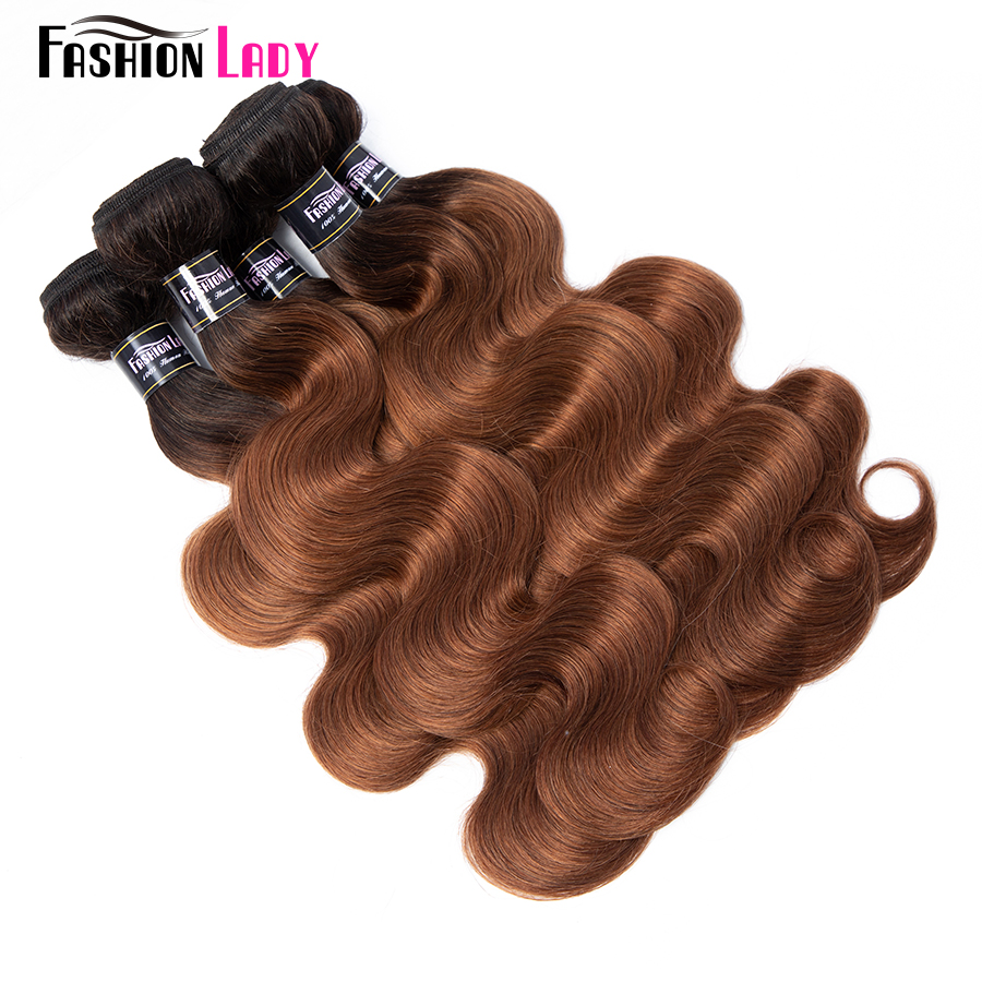 Fashion Lady Brazilian Body Wave Human Hair Bundles With Lace Closure Non-Remy Hair Weave 3/4 Bundles With Closure 1B/30