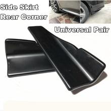 2Pcs Car Rear Lip Side Skirt Bumper Spoiler Rear Lip Angle Splitter Diffuser Anti crash modified Splitters Diffuser Winglet