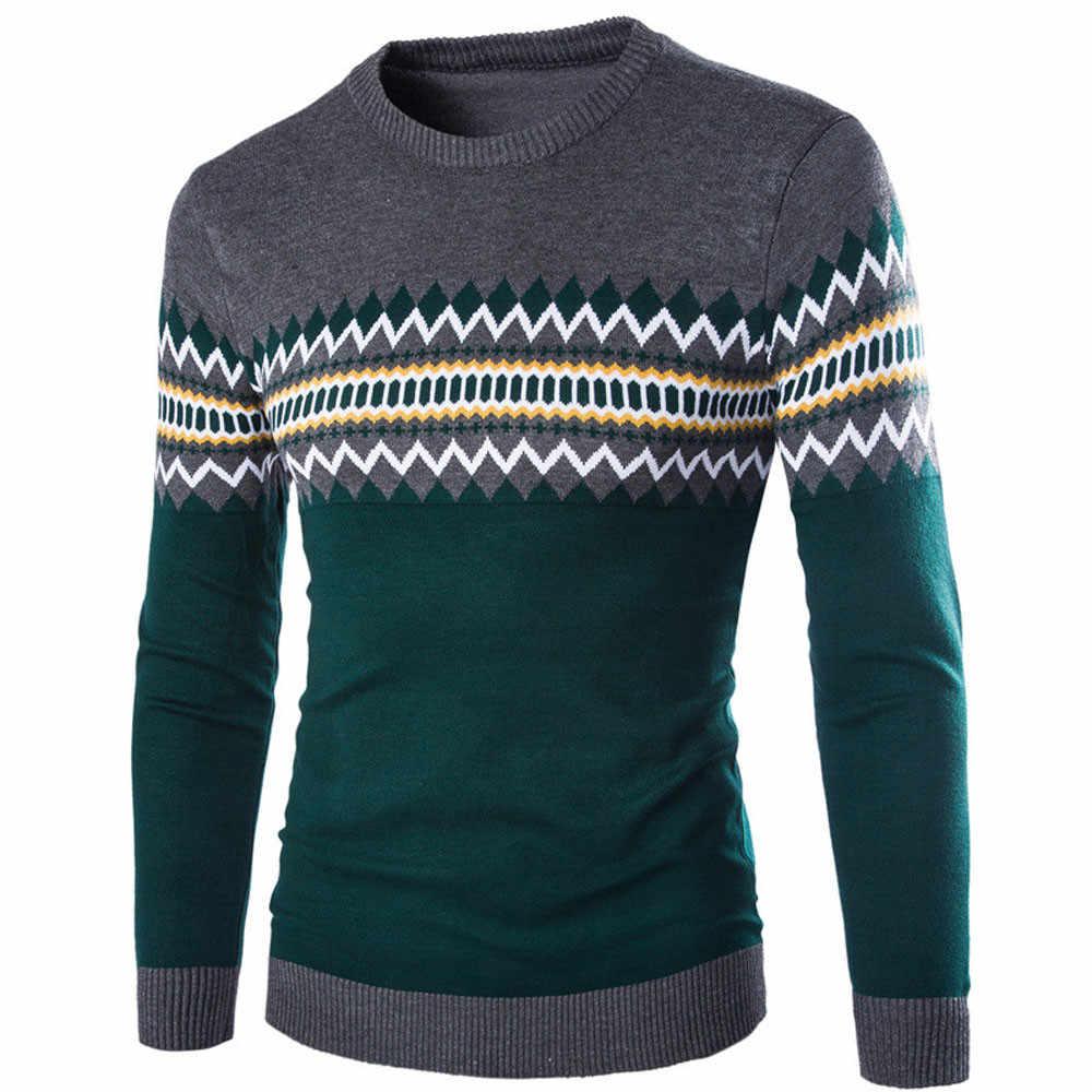 남성용 스웨터 캐주얼 긴 소매 패션 스웨터 따뜻한 뜨개질 풀오버 가을 겨울 탑스 블라우스 Sueter Hombre de lana 0730