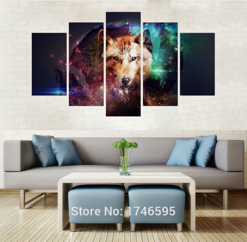 Animal Print Wall Art popular wolf wall art-buy cheap wolf wall art lots from china wolf