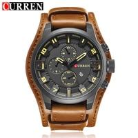 Curren Men S Casual Quartz Watch Mens Watches Top Brand Luxury Quartz Watch Leather Strap Auto