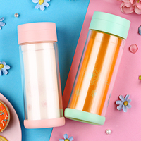 300ml My Water Bottle Eco Friendly Pastoral Glass Water Bottle With Lid Direct Drinking Hiking Gift