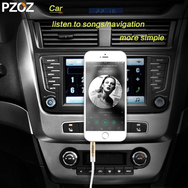 PZOZ 3.5mm aux cable Jack Audio high quality aux cable Cord 3.5mm to 3.5 mm for car computer headphone MP3/4 Xiaomi redmi 5 plus
