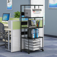 مكتب رف طابعة الجرف نسخة خزانة الطاولة يمكن تخصيصها المحمول متعدد الطبقات الطابق تخزين الرف الإطار الرئيسي متعددة الوظائف
