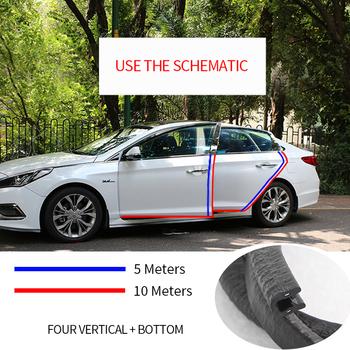 Ochronna krawędź do drzwi samochodu listwa ochronna uniwersalny Auto zderzak drzwi naklejki na zarysowania klej dekoracja wykończenia akcesoria zewnętrzne do samochodu tanie i dobre opinie SEAMETAL CN (pochodzenie) 0 8cm All years Car Door Protector ABS + Steel Stylizacja listwy 0 9kg Car Door Edge Protector