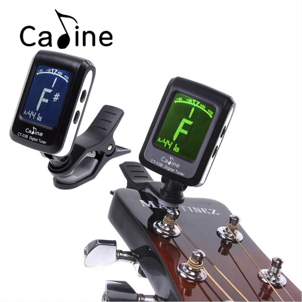 High Quality 360 Degree Rotatable Backlight Guitar Tuner LCD Clip-On Electronic Digital Guitar Chromatic Bass Violin Ukulele Tun lt 33 electronic piezo clip on chromatic tuner guitar bass ukulele violin chromatic tuner for musical instrument accessories