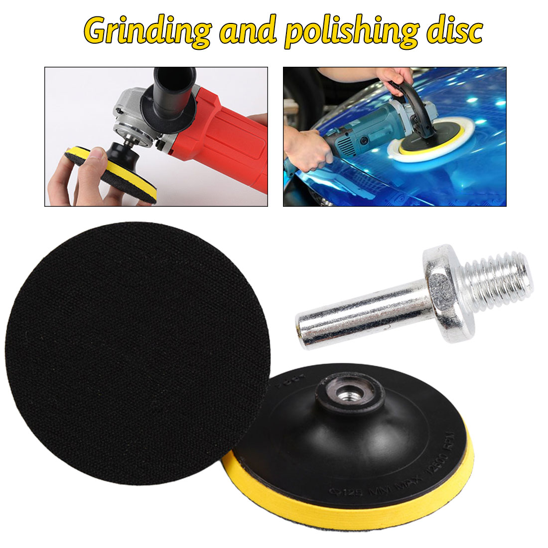 Sanding <font><b>Disc</b></font> Backing Pad 3 inch <font><b>75mm</b></font> Polish Buffer Plate M10 Thread Hook and Loop Backed Disk fit Sander Grinder Electric Drill image