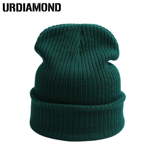 URDIAMOND 2018 New Brand Winter Hat For Women Men Skullies Beanies Warm Hat Leisure Winter Hat Wool Winter Cap Thicker Adult Cap