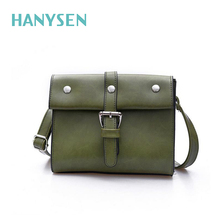 HANYSEN 2017 Vintage Satchel Women Shoulder Bag Small Leisure Rivet Solid Female Handbags Retro Ladies Small Bags Crossbody Bag