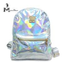 Fashion Hologram Backpack Women School Shoulder Bag Small Backpack Women S Laser Color Back Pack Metalic