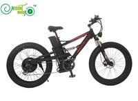 RisunMotor Mustang Dual Suspension 48V 1000W Electric Fat Wheel Bike With 28 8ah Li Ion Battery