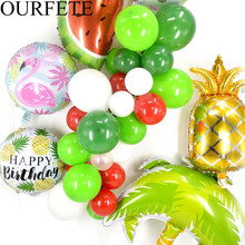 Flamingo Pineapple Foil Balloon Happy Birthday Ballon Party Decor Luau inflatable Fruit Helium Air Globos