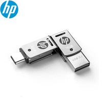 Оригинальный металлический usb-накопитель hp X5000M OTG type-C USB 3,1 для смартфонов/планшетов 128 ГБ/64 Гб/32 ГБ, высокоскоростной черный логотип