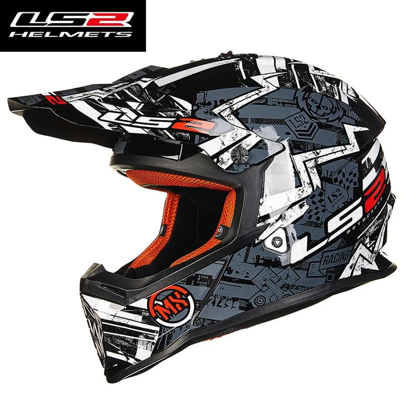2016 New LS2 MX437 Motocross racing Rally off road moto font b helmet b font ECE