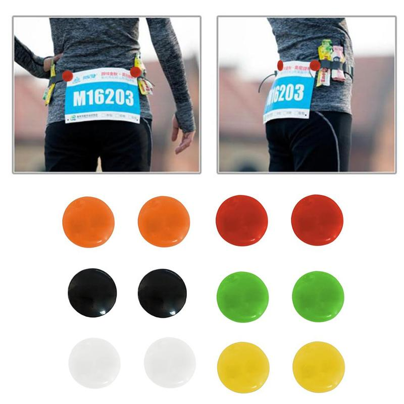 4pcs Marathon Triathlon Running Number Trail Run Cloth Buckle Number Fixing Clip Race Bib Number Belt Bag Cloth Accessories