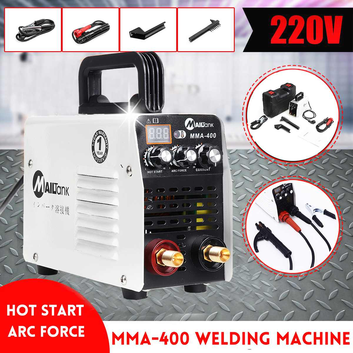 Digital Display IGBT Inverter Welder Hot Start MMA 220V Mini Arc Welder Welding Machine Tools For Welding Working Power Tools