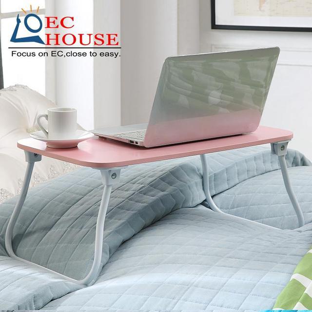 Notebook comter cama com mesa dobrável preguiçoso pequeno artefato dormitório estudante mesa de aprendizagem simples FRETE GRÁTIS