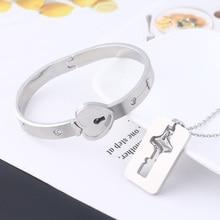 A Set Couples Heart Lock Key Pendants Necklaces Women Lover Stainless Steel Pair Kitty Cat Embrace Necklace Sweetheart Jewelry цена в Москве и Питере