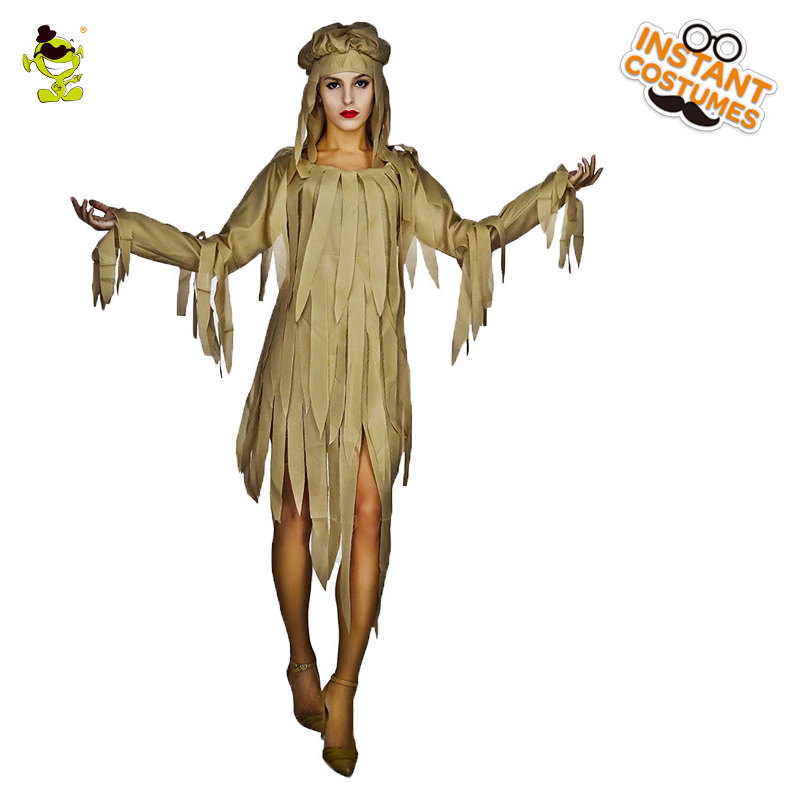 Woman's Mummy Fancy Dress Costume Cos Halloween Party  Cosplay Ghost  White Mummy Clothes Scary Costumes