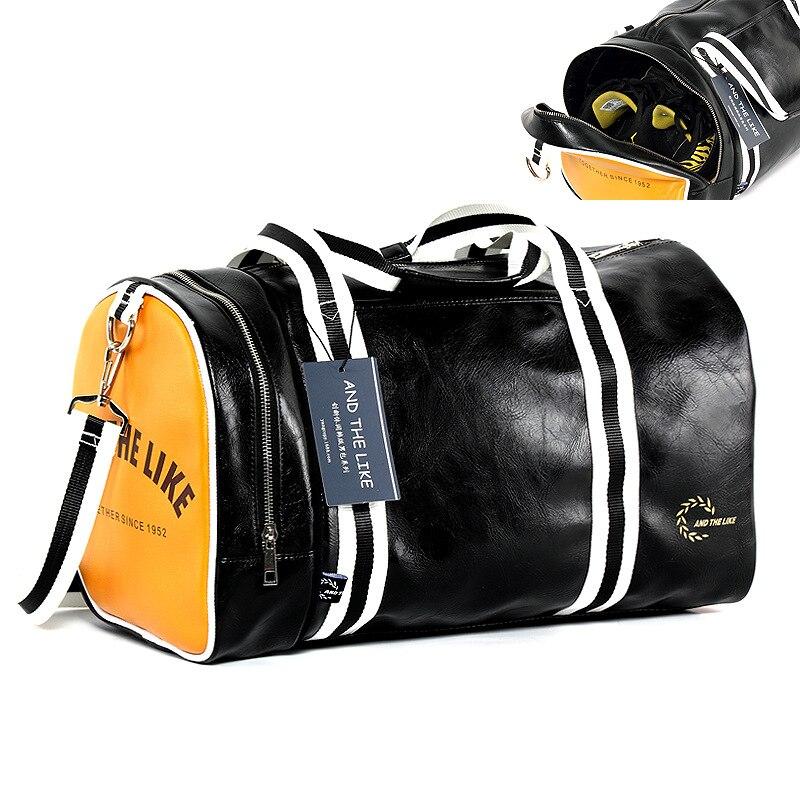 Travel Suitcase Men Duffel Bag Women Pu Leather Bucket Handbags Weekend Luggage Bags Portable Valise Bolsa Feminina