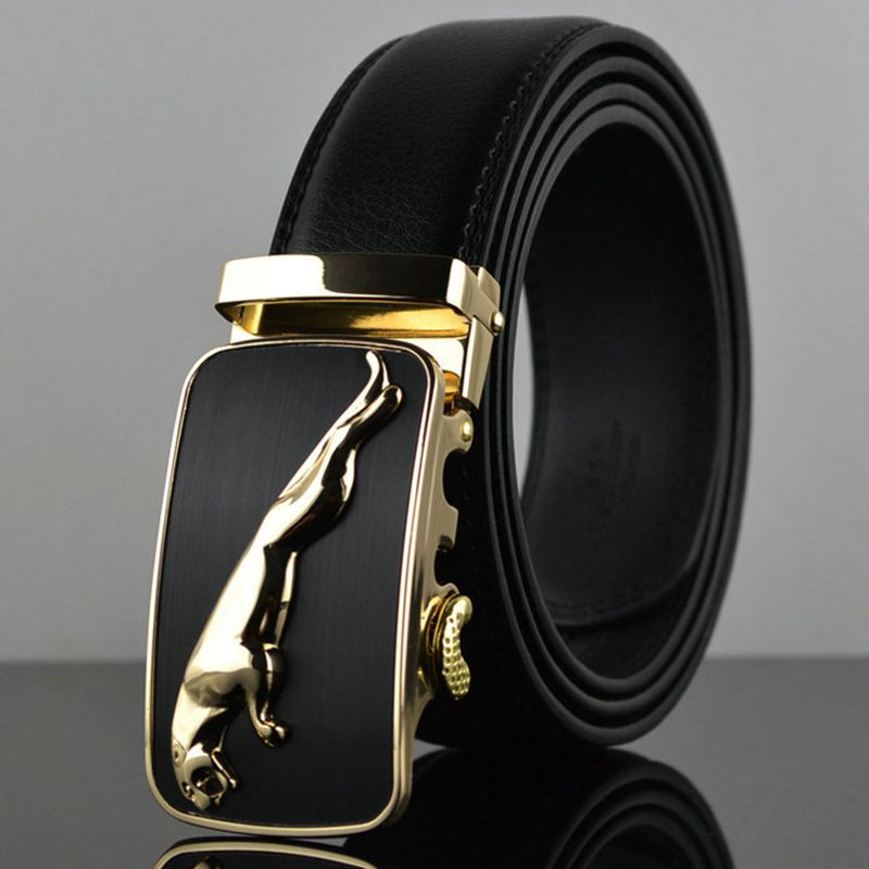 Brand New High Quality Belts Cowboys Mens Belt Gold Luxury Jaguar Automatic Buckle Designer Waist Strap Jeans Size 125cm C033 Relieving Heat And Thirst. Apparel Accessories