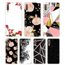 Silicone Phone Case Abstract black marble Printing for Samsung Galaxy A8S A9 A8 Star A7 A6 A5 A3 Plus 2018 2017 2016 Cover