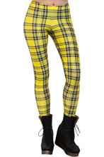 EAST KNITTING X-149 New 2015 Tartan Yellow Leggings women clothing Women Pants Wholesale S M L XL PLUS SIZE Free shipping