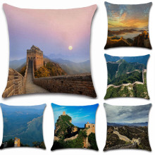 World famous scenery Great Wall of China photos pillow case Cushion Cover decoration for home sofa chair seat friend kids gift great china wall футболка