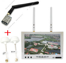 Free shipping!Boscam 5.8G FPV 32CH Dual Diversity HD 7″ Monitor RX-LCD5802+FX718+2 Mushroom Antennas