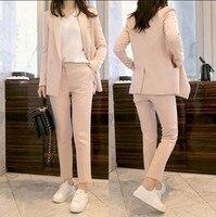 New Arrival Fashion Pants Suits Women Blazer 2 Two Piece Set Striped Jacket Pant Blazers Femme