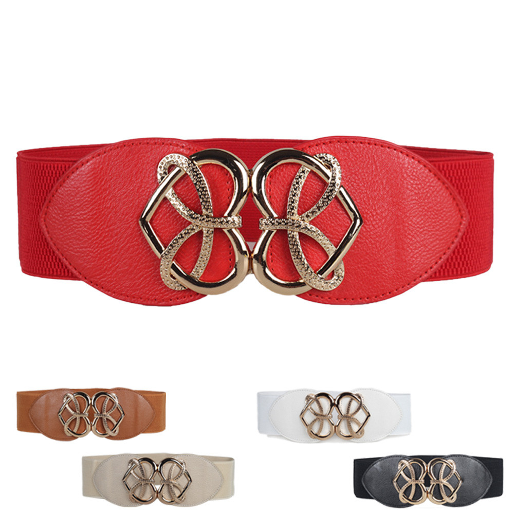 Women   Belt   Vintage Wide Waist   Belt   for Women Fashion Decorative Elastic Waistband Elastic Wide   Belt   cinturones para las mujer A9