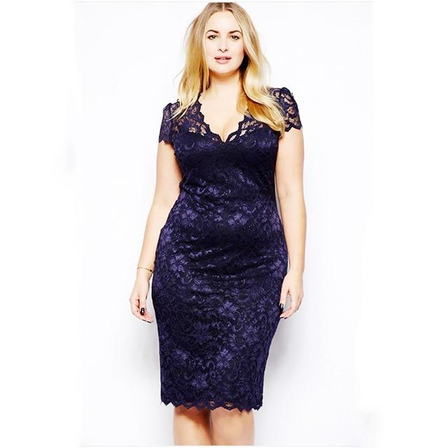 5XL халат 2018 летнее платье большой размер элегантное с коротким рукавом Миди кружевное платье женское офисное платье Плюс Вечерние Vestido