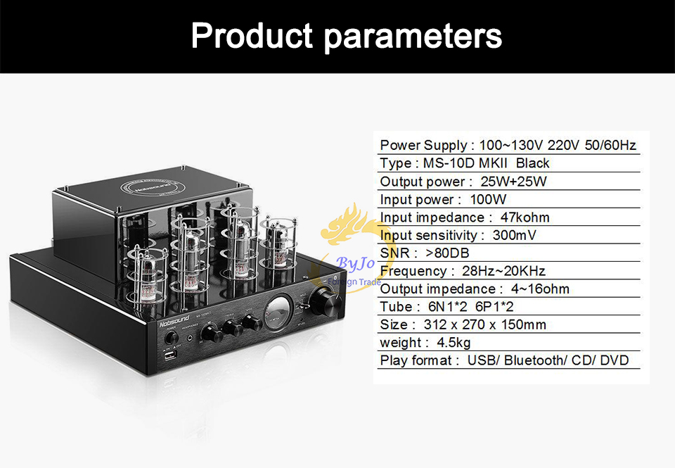 Image 3 - Nobsound MS 10D MKII MS 10D MKIII Tube Amplifier audio Power Vaccum Tube Amplifier Bluetooth amplifier 110V or 220Vtube amplifierstereo power amplifiernobsound ms-10d mkii -
