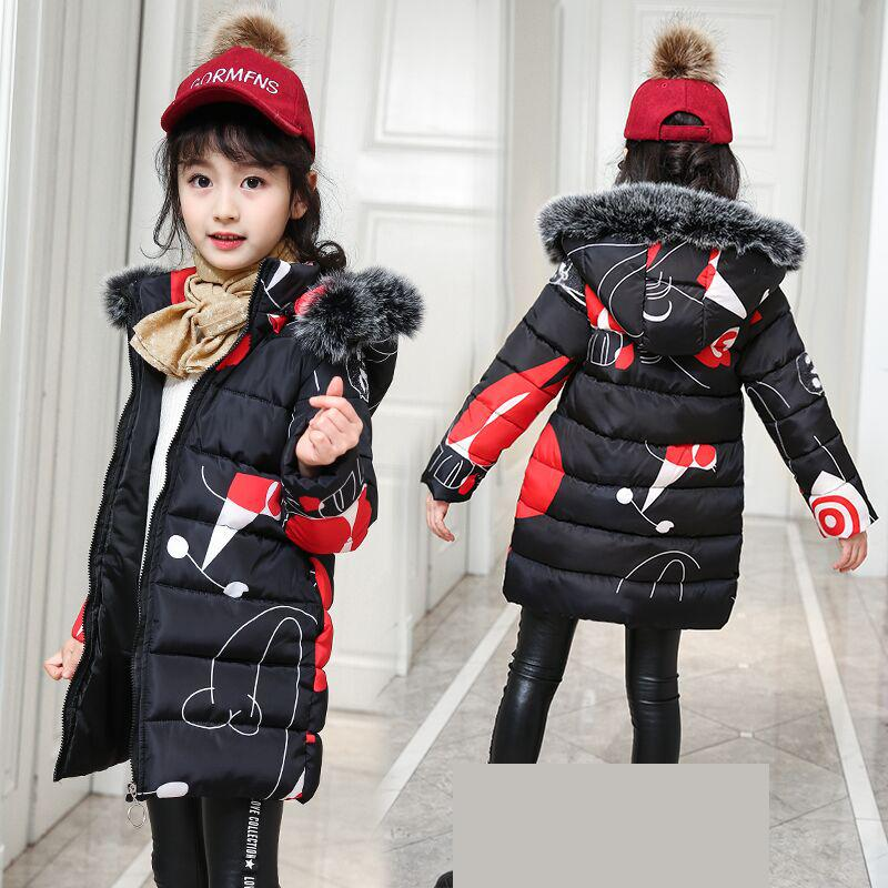 2018 New Baby Girls Coat Teenage Girls Winter Coats Warm Jacket Winter Outerwear Thick Girl Clothing Kurtki Zimowe Dla Dzieci 12 new children coat minnie baby girls winter coats full sleeve coat girl s warm baby jacket winter outerwear thick girl clothing