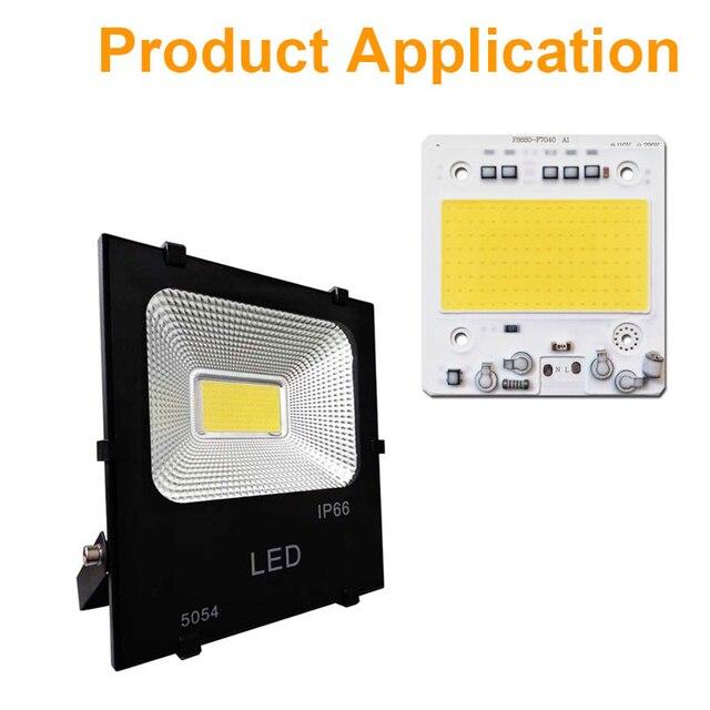 COB Chip LED 100W 50W 30W 20W 10W IC Thông Minh Không Cần Trình Điều Khiển LED SMD hạt Cho Pha Đèn Ngoài Trời Đèn