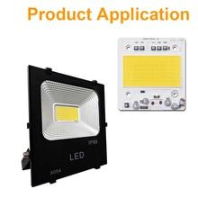 COB LED çip 100W 50W 30W 20W 10W akıllı IC gerekir sürücü LED SMD boncuk floodlight Spotlight açık hava aydınlatması