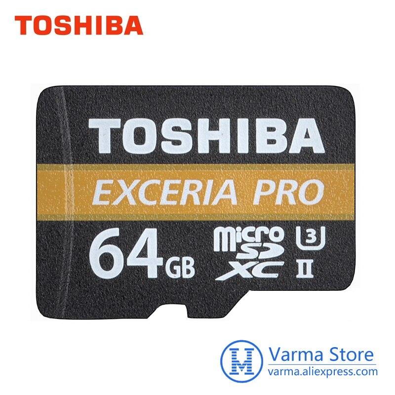 Toshiba extrait pro tf carte M501 micro SD carte mémoire UHS-II U3 64 GB Class10 4 K UltraHD carte mémoire flash haute vitesse microSDXC