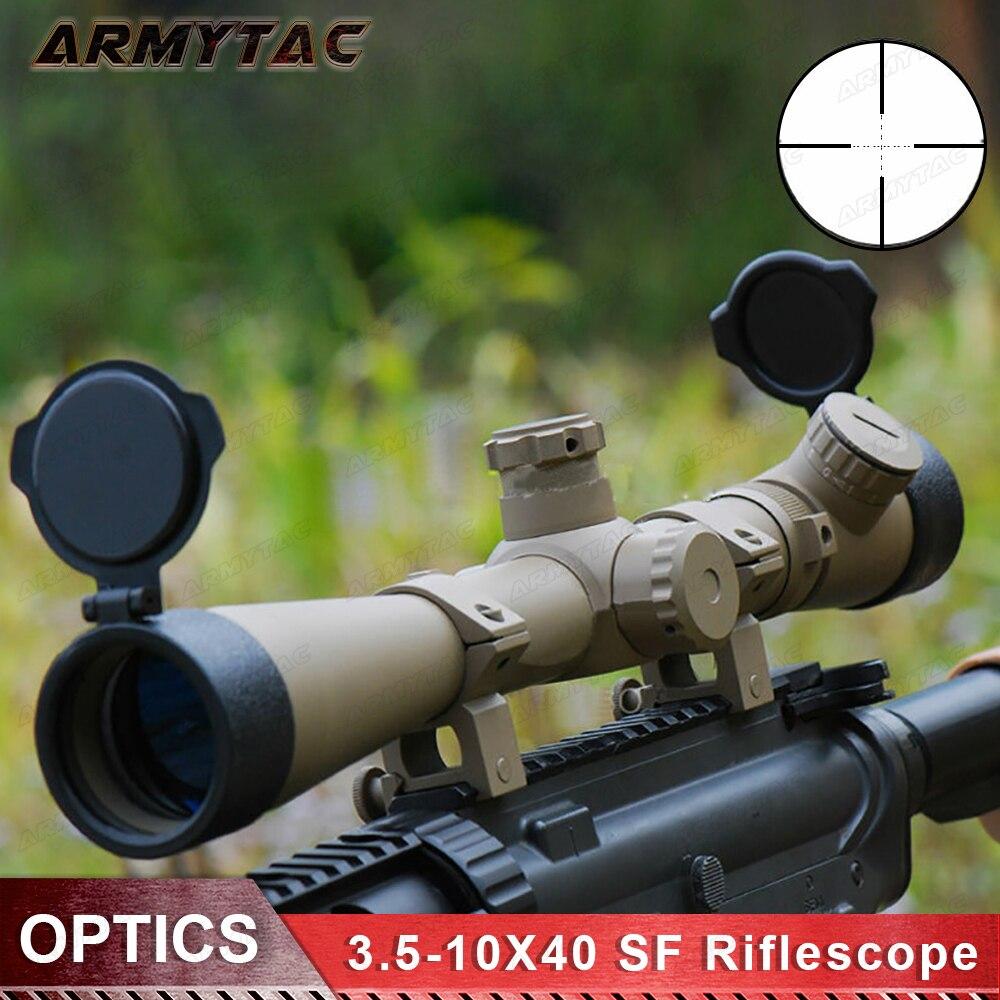 Sniper Optiques De Chasse Lunette De Visée 3.5-10X40 SF Éclairé Lunette Mil-dot Réticule Lunette de Visée