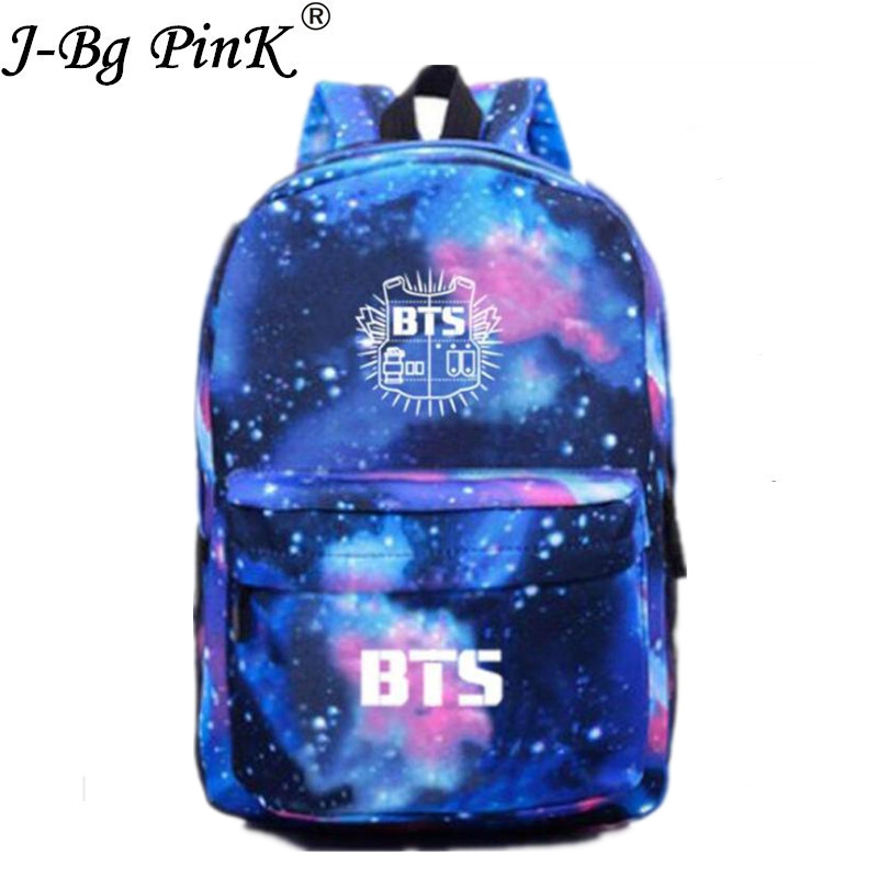 2017 Fashion Shoulders Bag BTS Group Bangtan Boys Student Couple Star printing Backpack Bag for Teenage Girls Laptop Back Pack [tool]kpop bts group bangtan boys young forever album lomo cards k pop fashion self made paper photo card hd photocard 0381