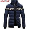 LONMMY M-3XL casaco de Inverno para baixo homens jaqueta gola Pato para baixo casaco de roupas masculinas Da Marca jaqueta masculina Fino Moda 2016 nova