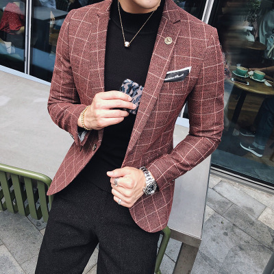 2018 autumn and winter, the new British little suit, male Korean Edition, body repair, western style coat, men's fashion trend