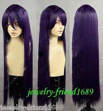 Wholesale heat resistant LY free shipping New Cosplay wig Ichinose Kotomi long Dark PurPle Heat Resistant