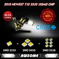 2x Super White T15 921 912 W16W 2835 15SMD Canbus Error Free  Emitter Car-Styling LED Backup Reverse Lights Turn Signal