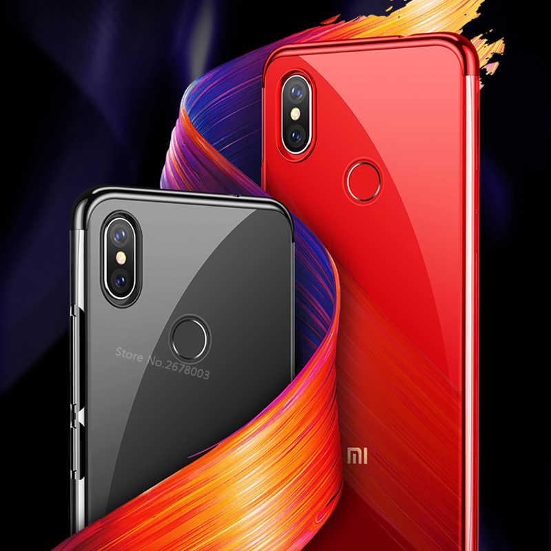 Xaiomi メッキ Tpu ケース Redmi 6 プロ 6A S2 4X 4A 5A 5 プラス Note5 Xiaomi Pocophone F1 mi8 Lite 5X 6X A1 A2 MIX3 2 s MAX3
