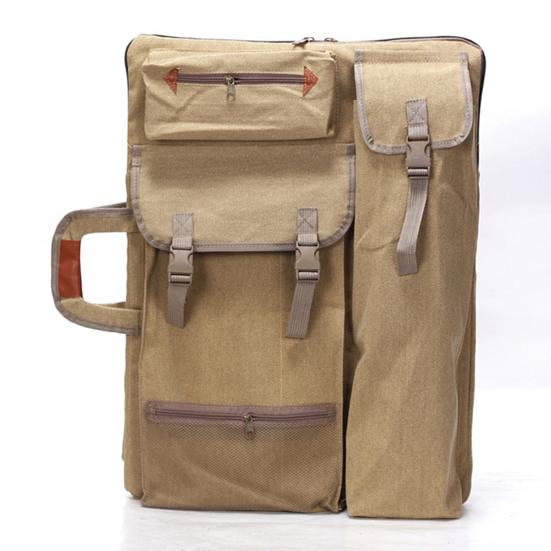 цена на Multifunction Canvas Sketchpad Bag Portable 4K Drawing Sketch Board Case Painting Bag Backpack Bag Travel Art Set School Supply