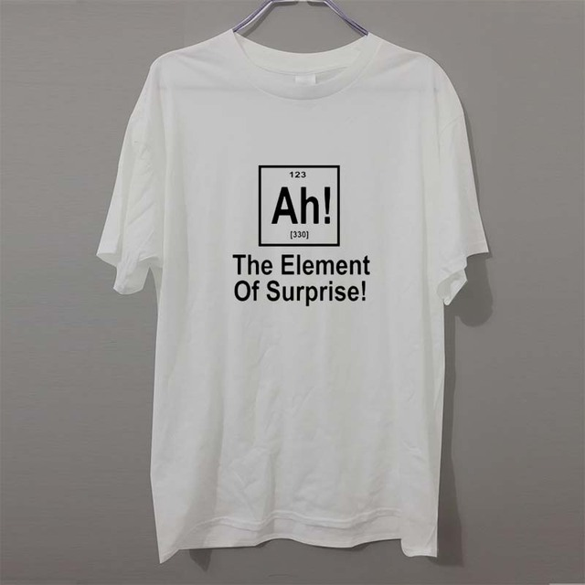 992ee14edb9b4d New Brand Element Of Surprise Periodic Table Geek Science T Shirt Men Funny  Cotton Short Sleeve T-shirt