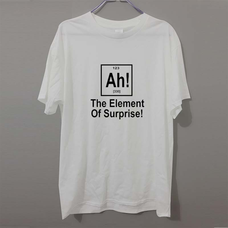 New Brand Element Of Surprise Periodic Table Geek Science   T     Shirt   Men Funny Cotton Short Sleeve   T  -  shirt